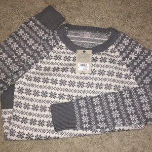 NWT Bass Women's Snowflake Sweater MEDIUM